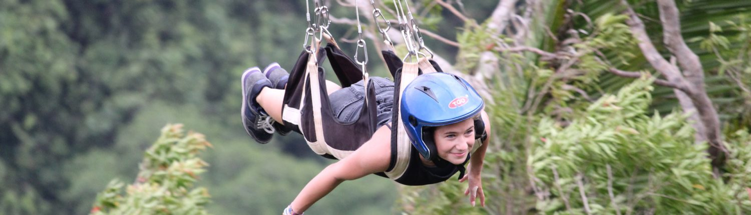 Ziplining at Bohol