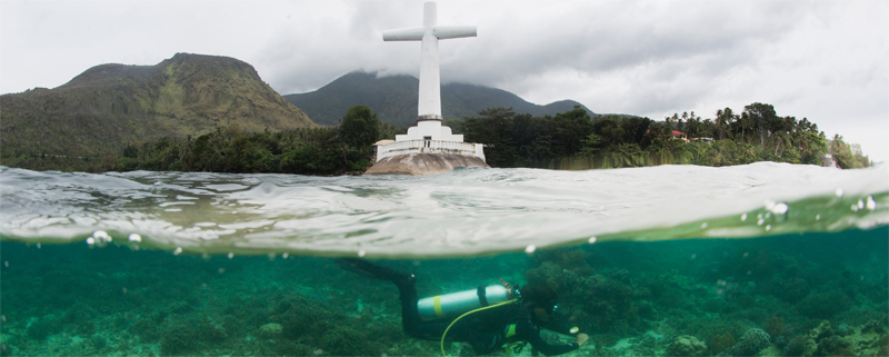 Sunken cemetery Camiguin island Magic Oceans Anda, Bohol Philippines