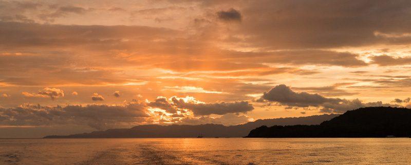 Magic Oceans Camiguin Island dive trip sunset